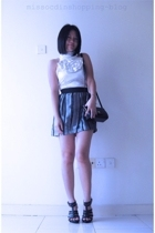 Sg Wang top - Miss OCD skirt - Honey-Pumpkin shoes - Vintage Pierre Cardin Paris