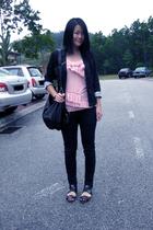 Miss OCD top - Miss OCD blazer - uk accessories - Sg Wang pants - the shoplifter
