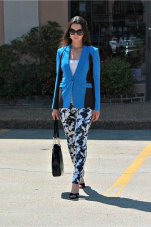 blue rag & bone blazer - floral print White House Black Market jeans
