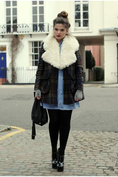 asos coat - Topshop dress