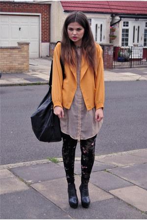 vintage jacket - Topshop leggings