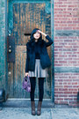 Beige-knit-flare-misspouty-skirt-dark-brown-ankle-boots-lanvin-boots