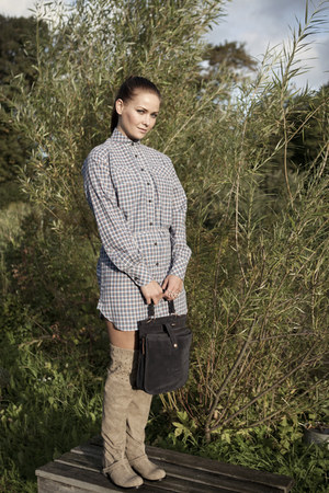 Missqa shirt - Cri de Coeur boots - Heather Belle bag - October Anniversary ring