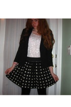 blazer - top - skirt - leggings - accessories