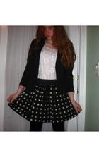 blazer - top - skirt - leggings - accessories