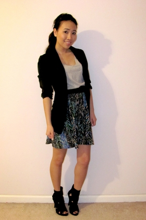 xhilaration dress - black She Said blazer - Quipid shoes