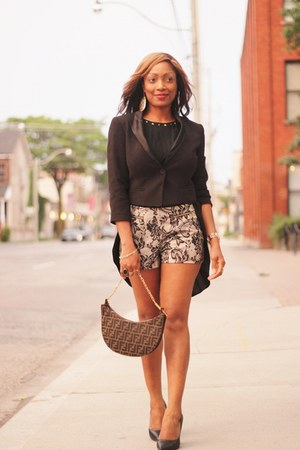 Forever 21 blazer - Fendi purse - Forever 21 shorts - Forever 21 pumps