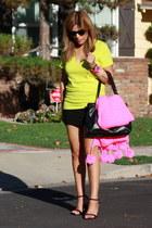 DIY scarf - Prada bag - JCrew t-shirt - H&M skirt - DKNY heels