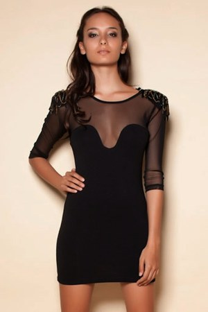 black andre nicole dress