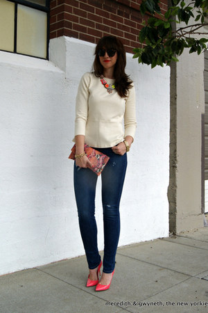 James Jeans jeans - snake clutch Cole Haan bag - Karen Walker sunglasses