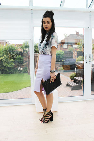 Dorothy Perkins shirt - River Island bag - Missguided skirt
