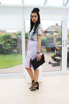Dorothy Perkins shirt - River Island bag - Missguided skirt