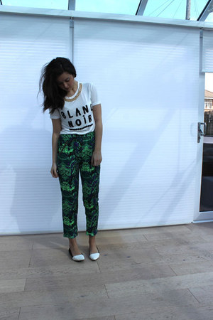River Island t-shirt - Missguided pants - River Island earrings