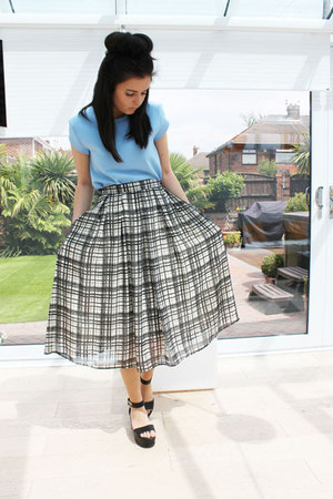 River Island skirt - Zara top - Topshop sandals