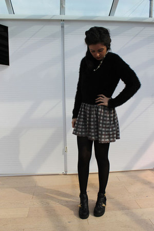 Miss Selfridge jumper - River Island boots - Topshop dress - Primark necklace