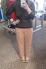 Thrifted-top-costa-blanca-pants-nine-west-wedges