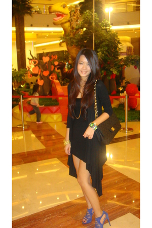 blue Zara shoes - beige Nine West shoes - black bodycon Forever21 dress