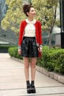 Red-wool-lowrys-farm-cardigan-black-jeffrey-campbell-shoes-maroon-h-m-bag