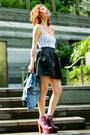 Black-romwe-skirt-magenta-exotic-litas-jeffrey-campbell-boots