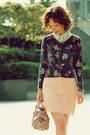 Light-yellow-lace-forever-21-shirt-light-pink-bow-satchel-miu-miu-bag