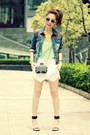 Black-bag-blue-forever-21-jacket-white-origami-skort-sheinside-shorts
