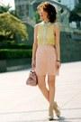Light-yellow-forever-21-shirt-light-pink-bow-satchel-miu-miu-bag