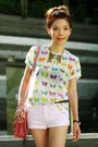 Collar-necklace-necklace-bubble-gum-satchel-bag-light-pink-h-m-shorts