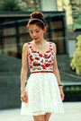 Red-top-red-satin-bow-nine-west-heels-red-bow-ingni-belt-white-lace-skirt