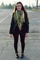 black sammydress boots - green reserved sweater - black Grana Shop leggings