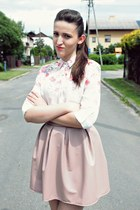 cream PERSUNMALL shirt - pink x-moda skirt