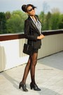 Black-h-m-blazer-striped-sheinside-shirt