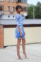 jacquard skater dress - low cut vamp Shoedazzle heels