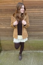 beige nua skirt - dark brown Bershka boots