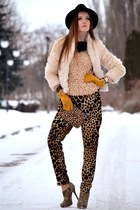 neutral c&a coat - burnt orange H&M pants