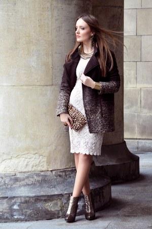 dark brown Bershka coat