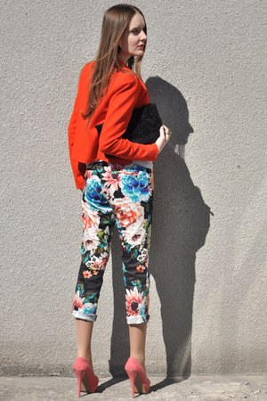 bubble gum H&M pants