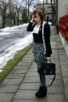 vintage bag - H&M skirt - Tally Weijl wedges - Atmosphere blouse