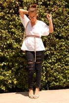 Alice  Trixie blouse - f21 jeans - Lacoste purse - Linea Paolo shoes