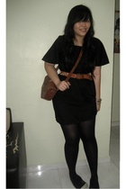 handmade dress - Abercrombie belt - Marks and Spencers tights - thrifted purse