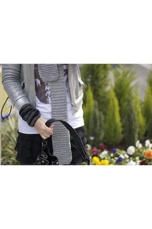 scarf - jacket - t-shirt - skirt