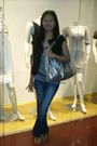 Gray-top-black-blazer-black-genevieve-belt-black-shoes-silver-purse-si