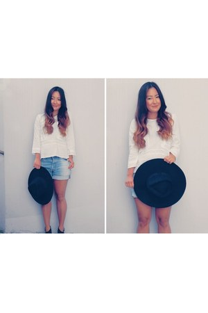 H&M blouse - H&M hat - Urban Outfitters shorts