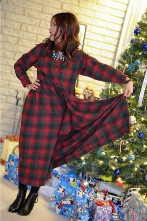 tartan plaid Eddie Bauer dress