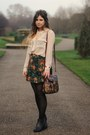 Black-ebay-boots-brown-vintage-bag-dark-green-river-island-accessories