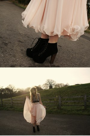 Jeffrey Campbell boots - vintage skirt - Republic top