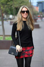 Chanel-bag-g-star-sunglasses-tartan-buylevard-skirt