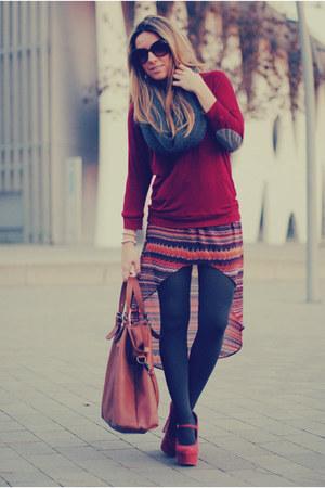 Zara skirt - Medwinds bag - Primark heels - Zara top