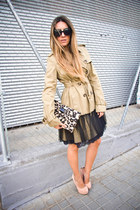 military lace RED valentino coat - animal print RED valentino bag