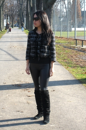 black Forever 21 blazer - black Spring boots