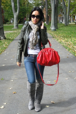 Chinese Laundry boots - Aldo purse - Foxy Jeans jeans